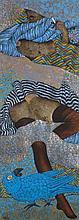 Georges Collignon (1923 - 2002) La femme au perroq
