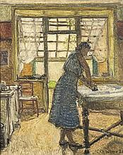 Henri Le Roux (1872 - 1942) La repasseuse, 1938 Hu