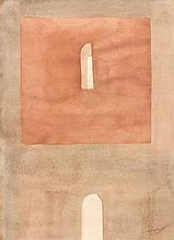 Luc Mondry (1938 - 1999) Sans titre, 1974 Aquarell