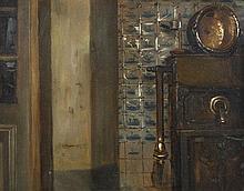 Henri De Braekeleer (1840 - 1888) Vieille cour à A