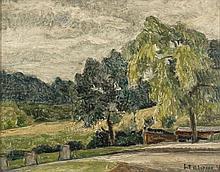 Henri Le Roux (1872 - 1942) Paysage, 1937 Huile su