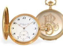 Pocket watch: Fine gold huntingcase watch, Henry Grandjean & Cie Geneve ca. 1910 (NO LIVE FEE)