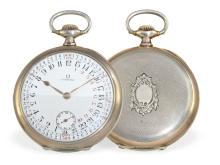 Pocket watch: very rare Omega gentlemen's watch with 24 h navigation dial, ca. 1925 (NO LIVE FEE)