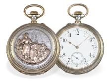 Pocket watch: Rare and very fine marksman's watch, Lausanne 1894, Ankerchronometer Piguet & Capt (NO LIVE FEE)
