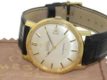 Wristwatch: 18 K gold Omega Constellation-Calendar automatic chronometer with original box, from the 60s (NO LIVE FEE)