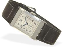 Wristwatch: very early and probably unused Longines gentlemen's watch, stainless steel, caliber 2517 (NO LIVE FEE)