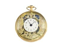 Pocket watch: very beautiful figured automaton Jaquemart with repetition, Breguet & Fils no. 6625, ca. 1810 (NO LIVE FEE)