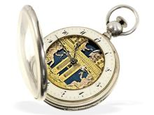 Pocket watch: rarity, Berthoud figured automaton with 4 figures 'Punchinellos Fight Against Chronos', ca. 1810 (NO LIVE FEE)