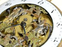 Pocket watch: very fine skeletonized repetition watch with figured automaton Jaquemart, Jeanrenaud & Robert Brand La Chaux-De-Fonds, ca. 1820 (NO LIVE FEE)