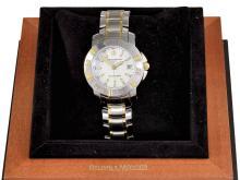 Wristwatch: Baume & Mercier gentlemen's watch/ diver's watch, stainless steel/18 K gold, original box (NO LIVE FEE)