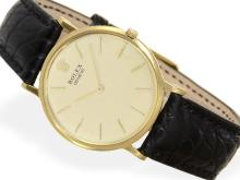 Wristwatch: extremely rare and ultra flat Rolex Coin-Edge with coin case, ca. 1960 (NO LIVE FEE)