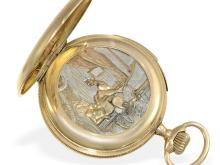 Pocket watch with original erotic automaton and repetition, Switzerland ca. 1910 (NO LIVE FEE)