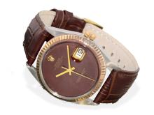 Wristwatch: Rolex Datejust, steel/pink gold with extremely rare enamel dial, from the 50s (NO LIVE FEE)