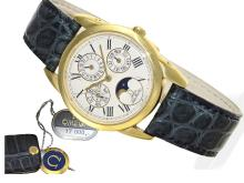 Wristwatch: extremely rare Omega Louis Brandt 'Perpetual calendar with moon', probably unused (NO LIVE FEE)