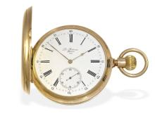 Pocket watch: Louis Audemars Ankerchronometer, high quality, sold to Felsing Bremen, ca. 1900 (NO LIVE FEE)