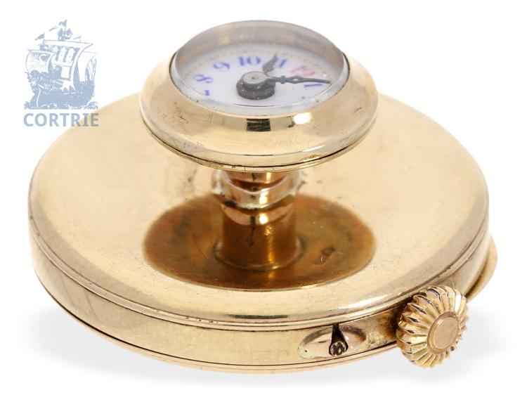 Dress watch/buttonhole watch: rare gold edition, ca. 1910, London import punch (NO LIVE FEE)