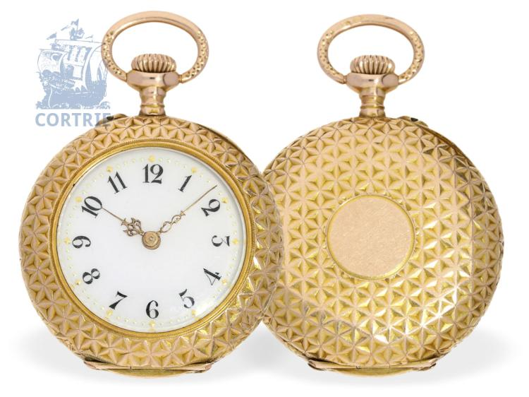 Pocket watch: exquisite ladies watch, excellent condition, Watchmaker of the Court Ignaz Marenzeller Vienna, ca. 1900 (NO LIVE FEE)