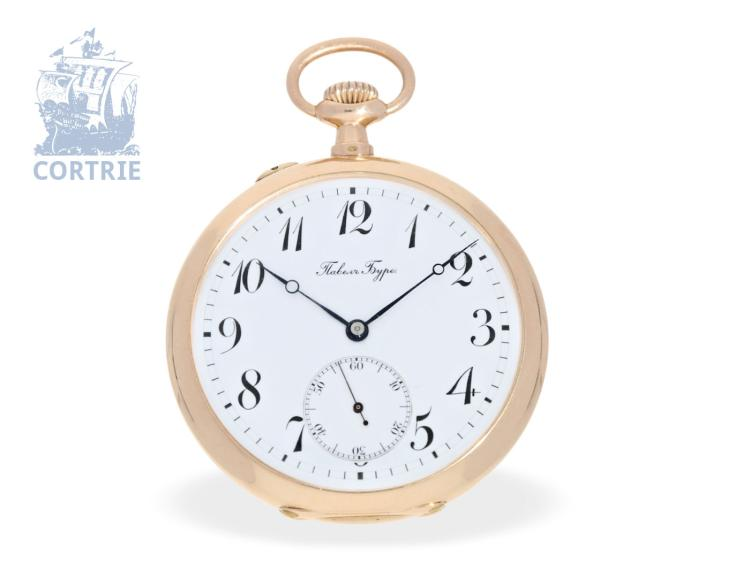 Pocket watch: pink gold Ankerchronometer, Pavel Buhre no.147724, watchmaker of the Russian Czar, ca. 1900 (NO LIVE FEE)