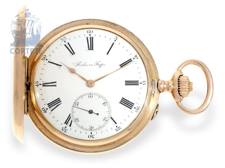 Pocket watch: pink gold Ankerchronometer, Pavel Buhre no.153544, watchmaker of the Russian Czar, ca. 1900 (NO LIVE FEE)