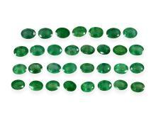 Konvolut von 31 Smaragden von zusammen 32,6ct (NO LIVE FEE)