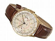 Wristwatch: Rare and early Breitling Chronomat ref. 769, 18 K gold, ca. 1945