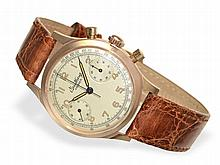 Wristwatch: Early Breitling Premier-Chronograph, 18 K pink gold, ca. 1948