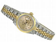 Wristwatch: Lady's watch Rolex Datejust in very good condition, stainless steel/18 K gold
