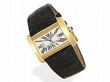 Wristwatch: Big luxurious Cartier Divan gentlemen's watch