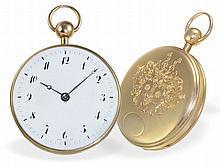 Pocket watch: Very fine but big cylinder watch with repetition, Dubois & Fils a Paris, ca. 1790, made for Royal house