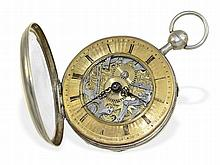 Skeletonized verge watch with repetition and escutcheon, signed Breguet a Paris