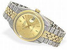 Wristwatch: Gentlemen's watch Rolex Datejust, steel/gold