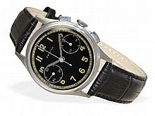Wristwatch: Early Zenith steel chronograph, ca. 1940