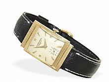 Wristwatch: Longines gentlemen's watch with very rare asymmetric case, ca. 1950