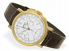 Wristwatch: Limited jubile chronograph by Eberhard, with box and ceritficates, no. 209/399