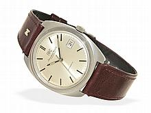 Wristwatch: Big IWC automatic watch, steel, probably unused (new-old-stock), from the 60s