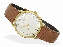 Wristwatch: Elegant IWC Schaffhausen gentlemen's watch, 18 K gold, from 1958 with IWC certificate
