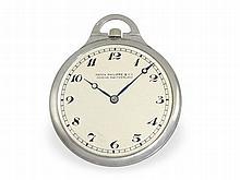 Pocket watch: Extremely flat Patek Philippe Art Deco dress watch, rare platinum case, ca. 1930