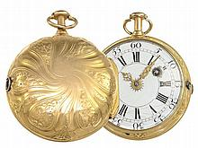 Pocket watch: Early verge watch with repetition, Royal watchmaker Jean Baptiste Baillon a Paris No. 1867, ca. 1760