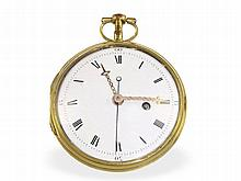 Pocket watch: Early and extremely rare cylinder watch for Chinese market, Hessen caliber, ca. 1790