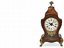Rare Italian table clock, baroque woodcase, French style, extremely rare 6 hour striking, Italy