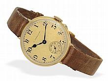 Very early wristwatch, 18 K gold, Le Roy & Cie Paris ca. 1910