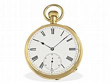 Pocket watch: Heavy 18 K gold pocket watch for English market ca. 1880