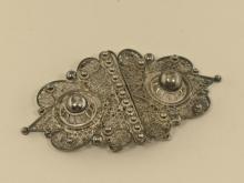 Gürtelschnalle, Silber, antik