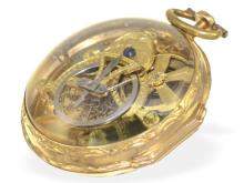 Pocket watch: early French skeletonized watch, excellent quality, attributed to Jean Arthur Paris 1757-1781 (NO LIVE FEE)