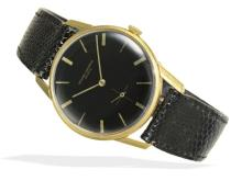 Wristwatch: elegant and rare Vacheron & Constantin Geneve gentlemen's watch with black dial, high-grade movement with Geneva seal, Geneva 1962 (NO LIVE FEE)