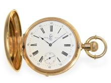 Pocket watch: very fine Geneva huntingcase watch with detent escapement, Junod Freres ca. 1875, Royal ancestor (NO LIVE FEE)