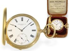 Pocket watch: heavy Patek Philippe Ankerchronometer, high-quality, ca. 1900, with Patek Philippe box (NO LIVE FEE)