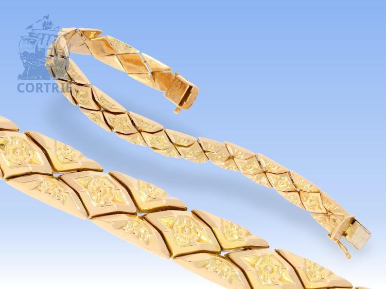 Armband: sehr dekoratives Goldschmiedearmband, 18K, vintage