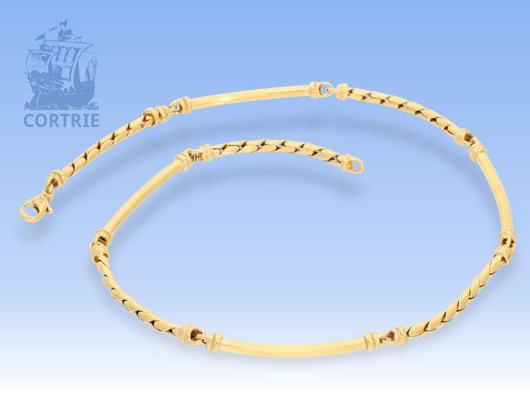 Kette: ausgefallene goldene Collierkette aus 18K Gelbgold, Markenschmuck von 'Balestra Spanien'