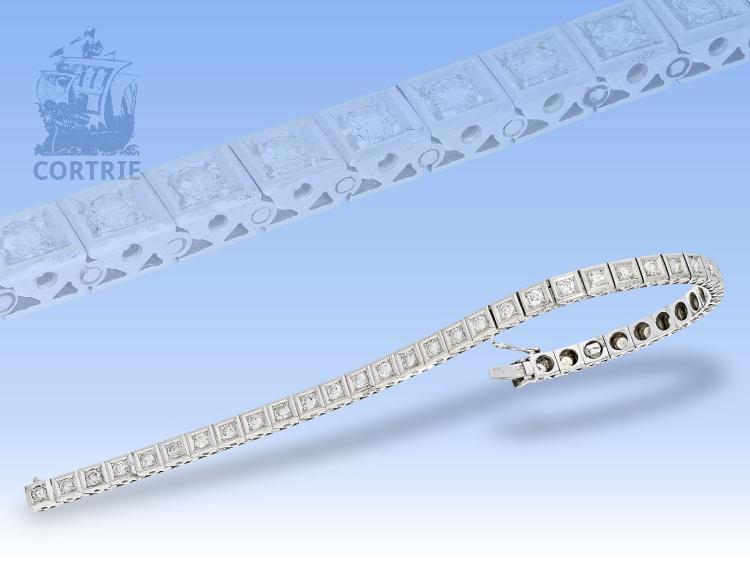 Armband: klassisches, sehr dekoratives vintage Tennisarmband, ca. 2,28ct
